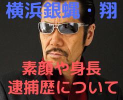 横浜銀蝿 翔 素顔 身長 出身大学 逮捕歴 画像 薬