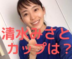清水みさと wiki カップ 学歴 大学 彼氏